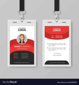 Professional Employee Id Card Template in Id Card Template Ai