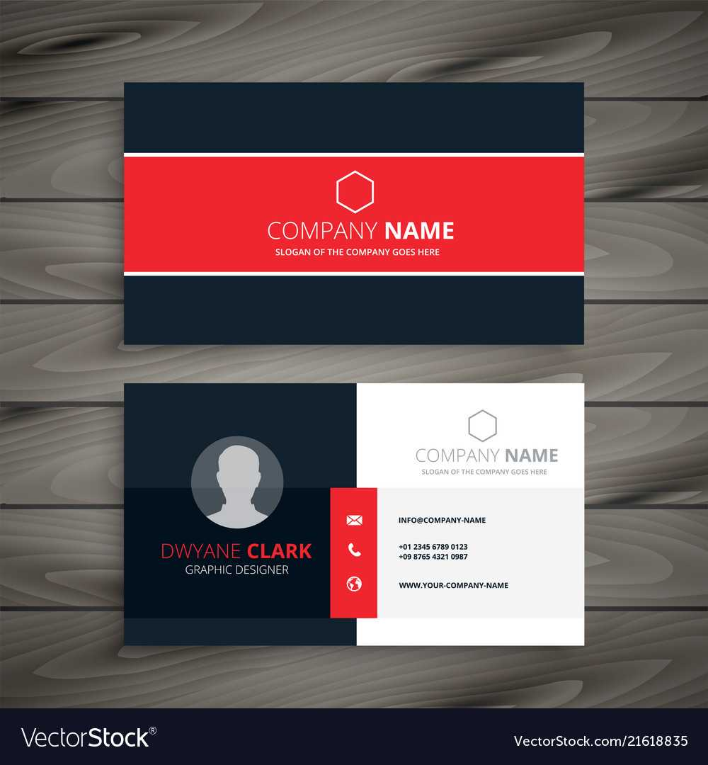 Professional Red Business Card Template Intended For Professional Name Card Template