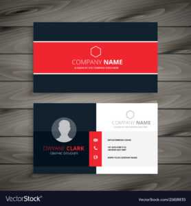 Professional Red Business Card Template within Professional Business Card Templates Free Download