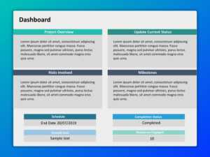 Project Dashboard Powerpoint 4 | Project Management intended for Project Dashboard Template Powerpoint Free