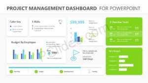 Project Management Dashboard Powerpoint Template – Pslides for Project Dashboard Template Powerpoint Free