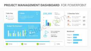 Project Management Dashboard Powerpoint Template – Pslides in Project Dashboard Template Powerpoint Free