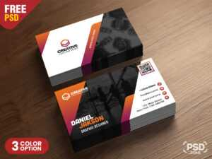 Psd Business Card Design Free Templates – Uxfree in Creative Business Card Templates Psd