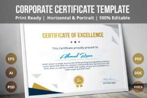Psd Certificate Template On Behance for Certificate Of Ownership Template