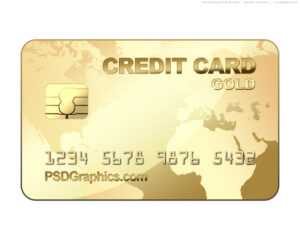 Psd Gold Credit Card Template | Psdgraphics with regard to Credit Card Size Template For Word