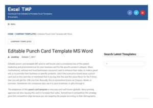 Punch Card Templateexcel Tmp – Issuu pertaining to Free Printable Punch Card Template