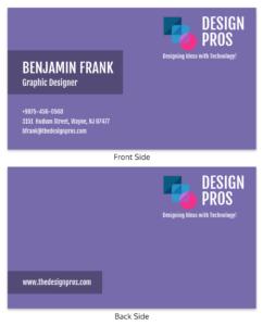 Purple Design Professional Business Card Template regarding Dog Grooming Record Card Template