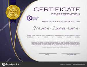 Qualification Certificate Appreciation Design Elegant Luxury inside Qualification Certificate Template