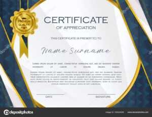 Qualification Certificate Appreciation Design Elegant Luxury throughout High Resolution Certificate Template