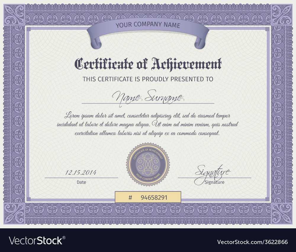 Qualification Certificate Template Regarding Qualification Certificate Template