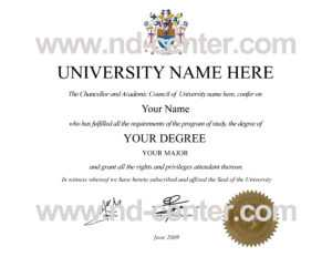 Quality Fake Diploma Samples in Masters Degree Certificate Template
