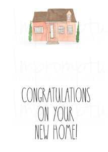 Rae Dunn Inspired-Congratulations On Your New Home Card — Impromptu  Photography with regard to Michaels Place Card Template