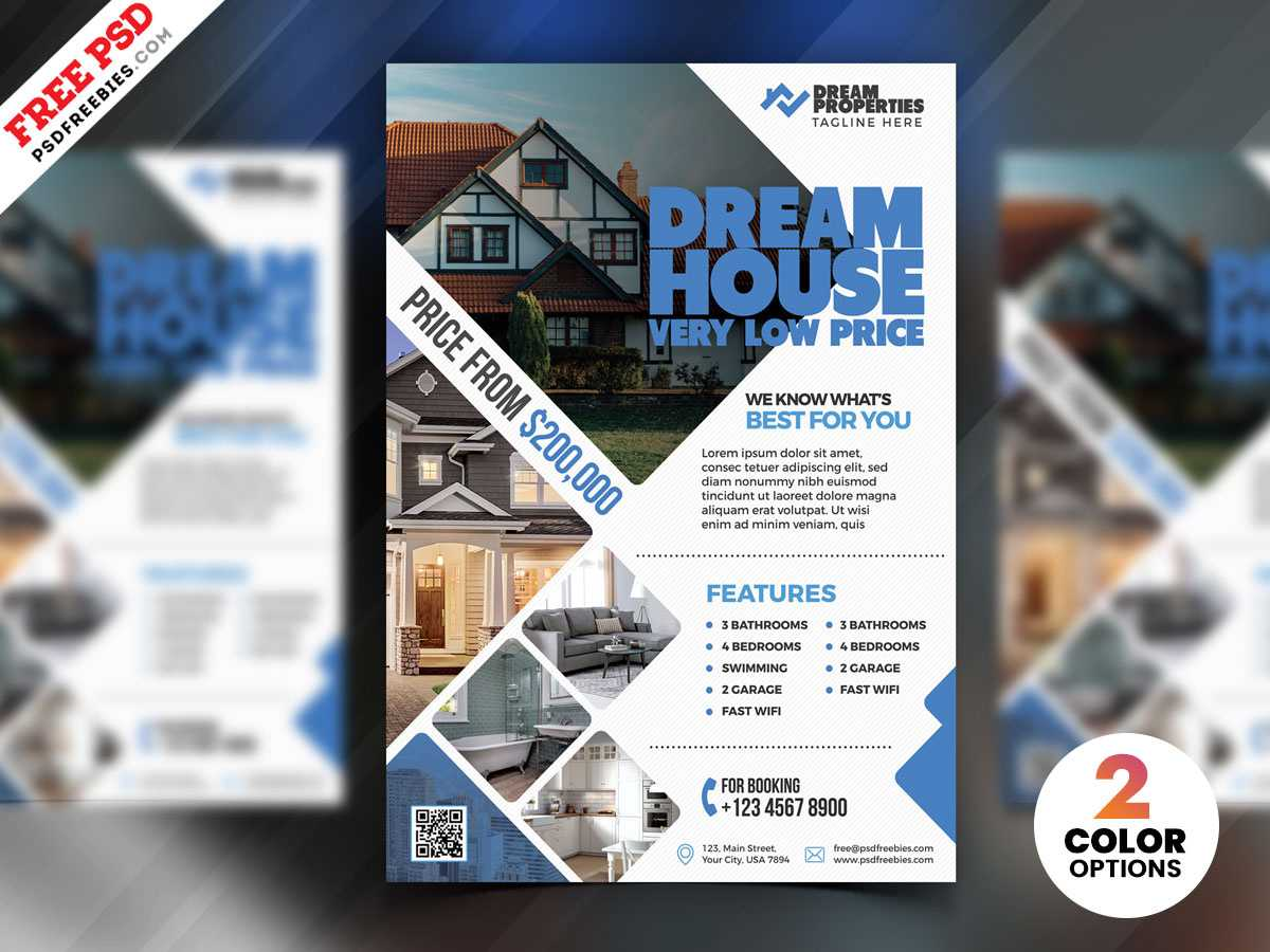 Real Estate Flyer Design Psdpsd Freebies On Dribbble Throughout Real Estate Brochure Templates Psd Free Download