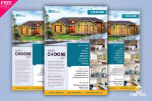 Real Estate Flyer + Social Media Free Psd Template throughout Real Estate Brochure Templates Psd Free Download