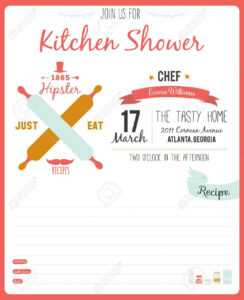 Recipe Card In Hipster Style For Restaurant And Cafe. Invitation.. within Restaurant Recipe Card Template