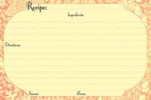 Recipe Card Template Microsoft Word – Bestawnings with regard to Free Recipe Card Templates For Microsoft Word