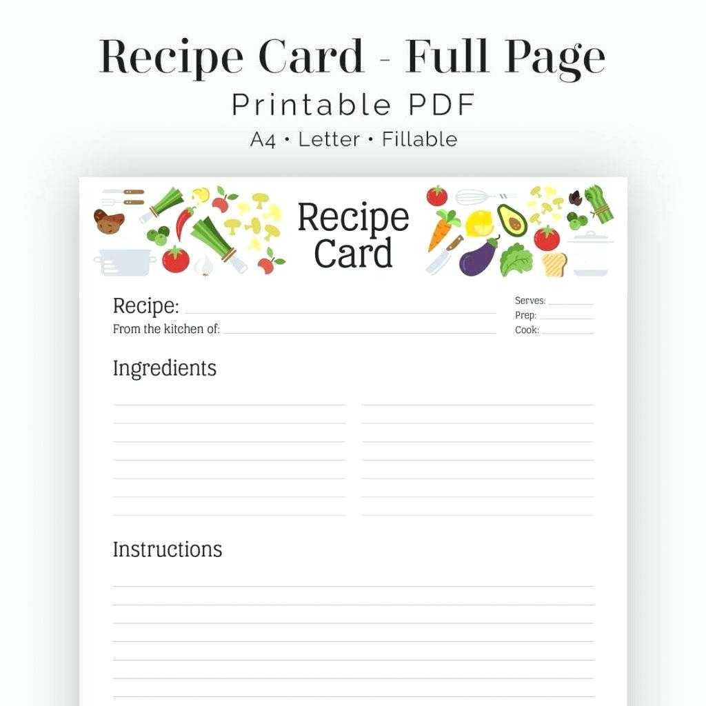 Recipe Card Template Word – Bestawnings For Fillable Recipe Card Template