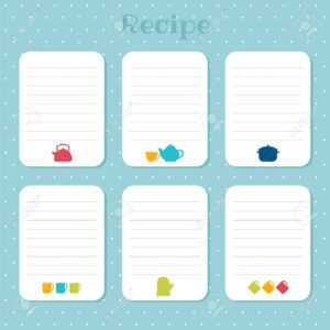 Recipe Cards Set. Cooking Card Templates. For Restaurant, Cafe,.. regarding Restaurant Recipe Card Template