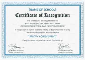 Recognition Certificate – Oflu.bntl inside Template For Recognition Certificate