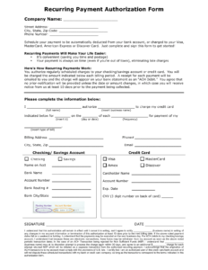 Recurring Payment Form – Oflu.bntl throughout Credit Card Billing Authorization Form Template