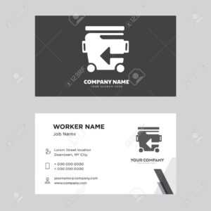 Recycle Bin Business Card Design Template, Visiting For Your.. inside Bin Card Template
