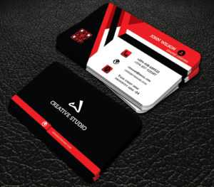 Red And Black Colour Professional Business Cards Free in Professional Business Card Templates Free Download