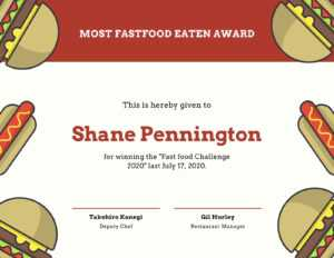 Red And Cream Illustrations Funny Certificate – Templates inside Funny Certificate Templates