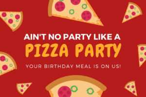 Red And Yellow Pizza Illustration Birthday Gift Certificate inside Pizza Gift Certificate Template