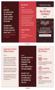 Red College Campus Tri Fold Brochure Template with regard to Tri Fold School Brochure Template