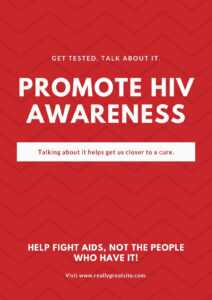 Red Zigzag Pattern Background Hiv / Aids Poster – Templates for Hiv Aids Brochure Templates