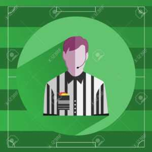 Referee Icon. Referee In Striped Shirt With Red And Yellow Cards.. inside Soccer Referee Game Card Template