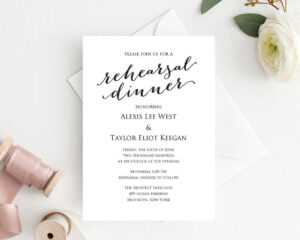 Rehearsal Dinner Invitation Template throughout Frequent Diner Card Template