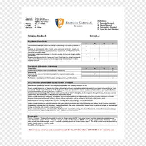 Report Card Middle School Template National Secondary School regarding Homeschool Report Card Template Middle School