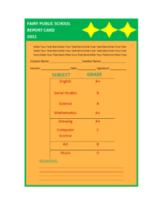 Report Card Template pertaining to Decision Card Template