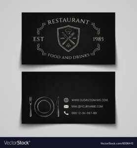 Restaurant Business Card Template with regard to Restaurant Business Cards Templates Free