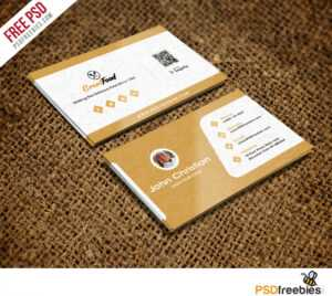 Restaurant Chef Business Card Template Free Psd inside Name Card Template Psd Free Download