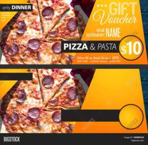 Restaurant Gift Image & Photo (Free Trial)   Bigstock inside Pizza Gift Certificate Template