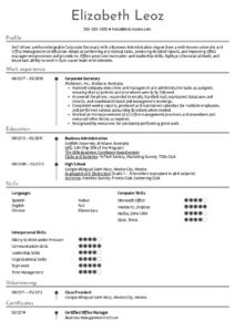 Resume Examplesreal People: Corporate Secretary Resume throughout Corporate Secretary Certificate Template