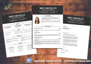 Resume Template Id02 throughout Brochure Templates For Word 2007