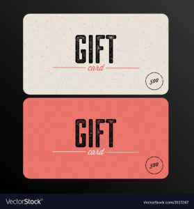 Retro Gift Card Template in Gift Card Template Illustrator