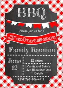 Reunion Party Invitation pertaining to Reunion Invitation Card Templates