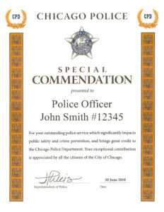 Ribbon Awards | Chicagocop for Life Saving Award Certificate Template