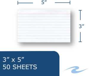 """Roaring Spring Printable Index Card – 5"""" X 3 1/2"""" – 100 Lb Basis Weight –  50 Card – White for 3 By 5 Index Card Template"""