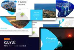 Roovos Travel And Tourism Powerpoint Template, Traveling Power Point  Template, Travel Powerpoint Presentation within Tourism Powerpoint Template