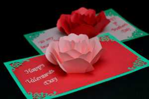 Rose Flower Pop Up Card Tutorial – Creative Pop Up Cards pertaining to Diy Pop Up Cards Templates