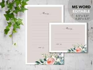 Rose Garden| Printable Funeral Share Memory Cards Template | Editable Ms  Word | Celebration Of Life pertaining to In Memory Cards Templates
