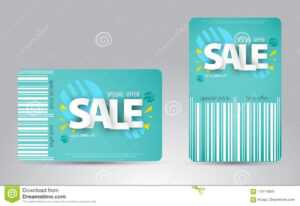 Sale Card Template Design For Your Business. Stock Vector in Credit Card Templates For Sale
