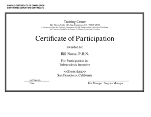 Sample Certificate Of Completion Continuing Education regarding Continuing Education Certificate Template