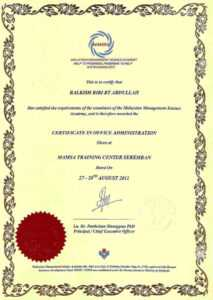 Sample Certificates – Mamsa with regard to Certificate Of Authorization Template