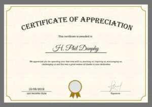 Sample Company Appreciation Certificate Template with In Appreciation Certificate Templates